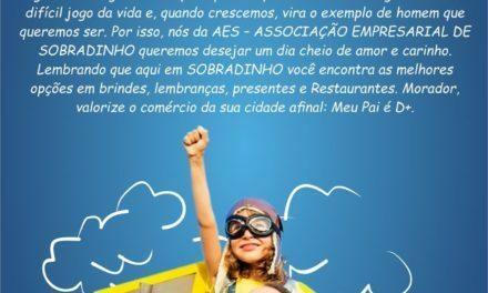 AES – Associação Empresarial de Sobradinho lança campanha para o Dia dos Pais