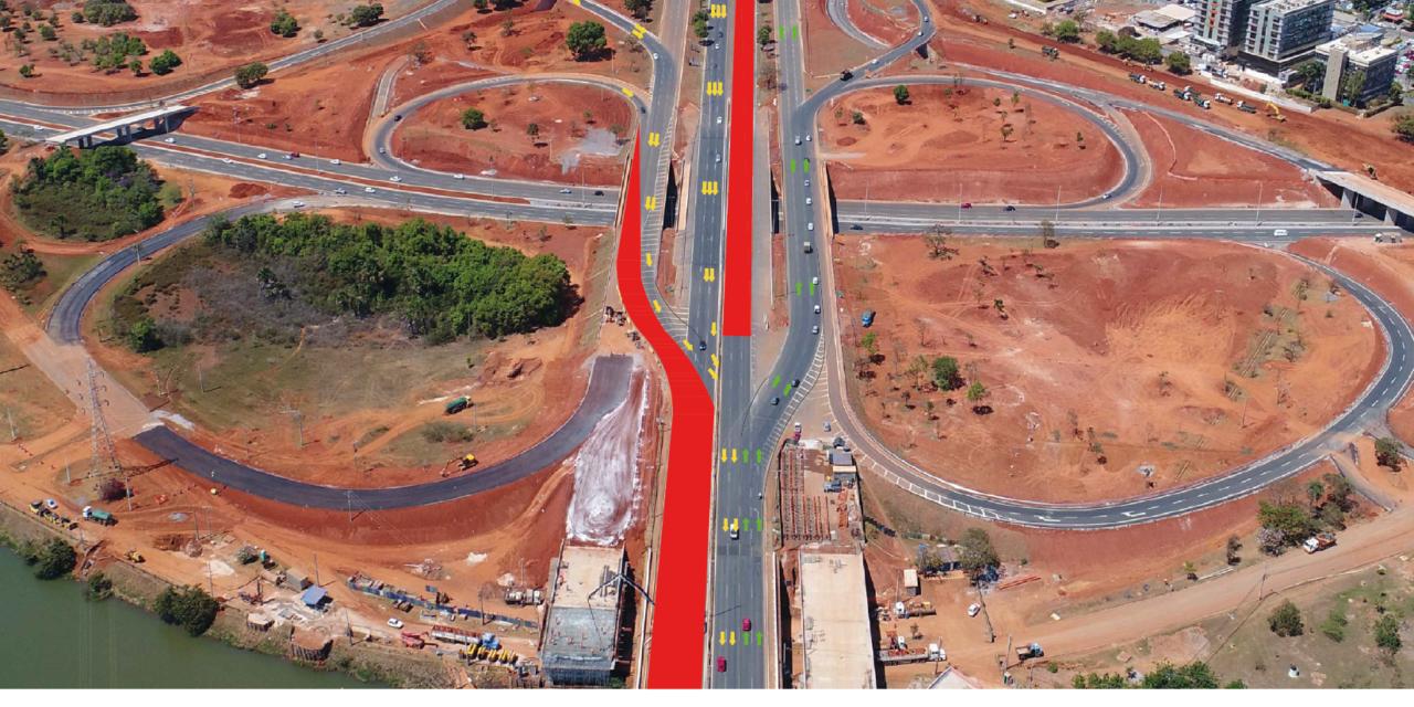 DOMINGO (11/11), serão bloqueadas quatro faixas de rolamento sobre a Ponte do Bragueto
