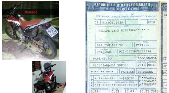 GTOP 33 APRENDE DUPLA COM MOTOCICLETA CLONADA E DOCUMENTO FALSO NA QUADRA 05 DE SOBRADINHO