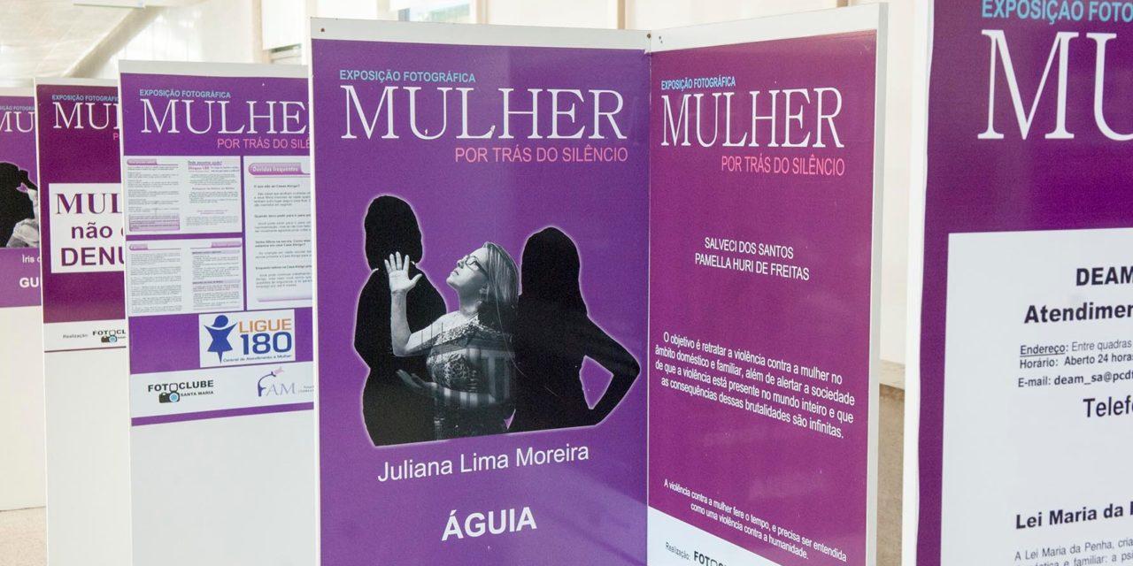 Violência contra mulher retratada em exposição na Câmara Legislativa