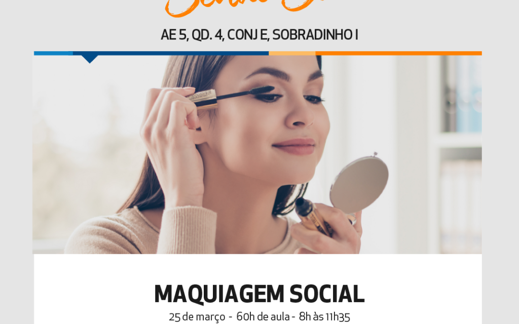 Curso de Maquiagem Social será ofertado pelo Senac em Sobradinho