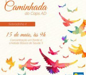 CAPS AD DE SOBRADINHO II PROMOVE CAMINHADA PELA LUTA ANTIMANICOMIAL