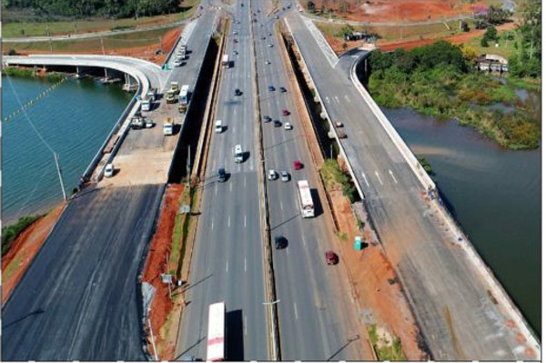 DER bloqueia trânsito sobre a Ponte do Bragueto nesta quarta-feira (9)