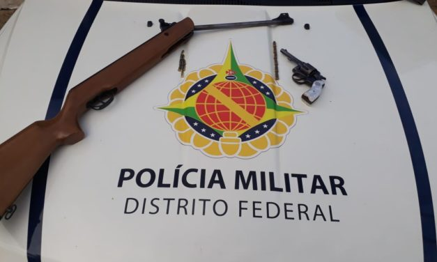 PMDF apreende duas armas de fogo em Sobradinho