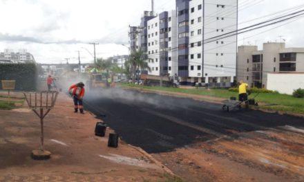 Novacap segue com recuperação asfáltica em Sobradinho