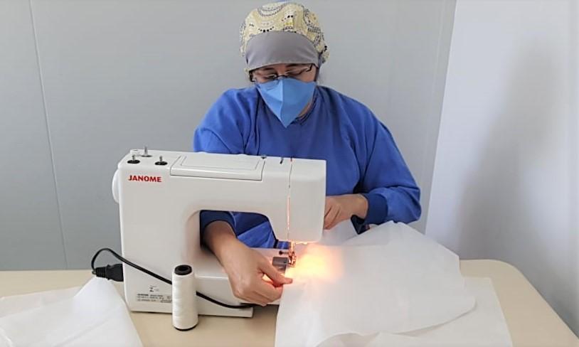 Equipe de Sobradinho II produziu 8.680 máscaras e capotes
