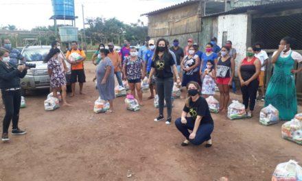 Em Sobradinho-DF, Sindjus-DF dá continuidade à entrega de cestas básicas arrecadadas durante Projeto Salve o Som