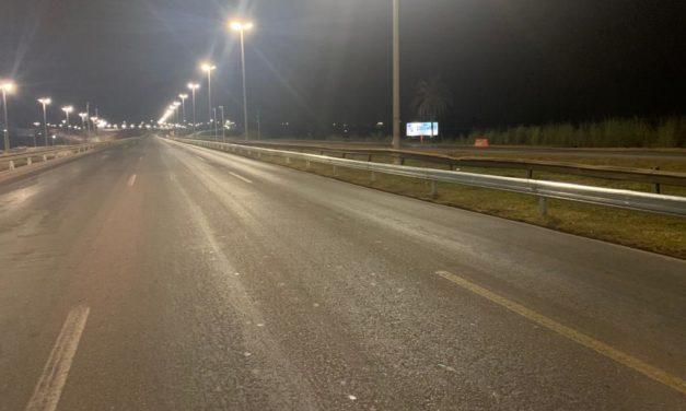 Mil metros de barreiras metálicas trocadas na ligação Torto-Colorado