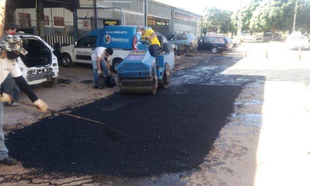GDF Presente repara estacionamento comercial em Sobradinho II