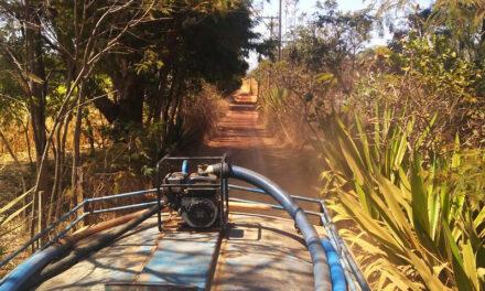 reforma em 28 km de estradas rurais do Córrego do Arrozal