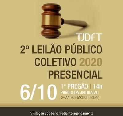 TJDFT vai realizar 2º Leilão Público Coletivo de 2020