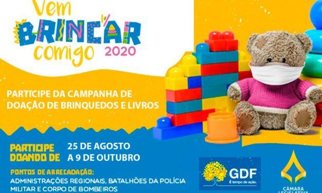 CLDF participa da campanha Vem Brincar Comigo e arrecada brinquedos e livros infantis