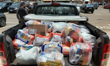Ação solidária do BPChoque leva alimentos à população carente de Sobradinho 2