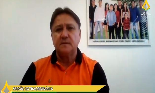 João Cardoso dirige pronunciamento à cidade de Sobradinho