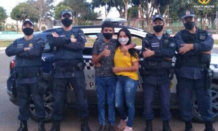 Aniversariante admirador da Polícia Militar é homenageado em Sobradinho