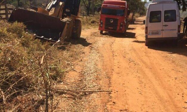 Obra em estrada traz alívio para dois núcleos rurais