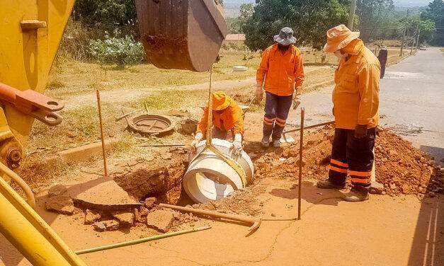 Cratera se abriu em rua de Sobradinho e o GDF foi lá tampar