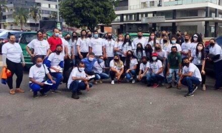 Mobilização para a coleta seletiva nas ruas de Sobradinho