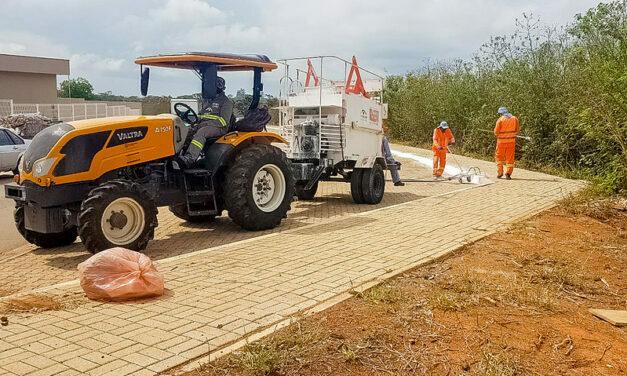 Limpeza geral na área da nova UBS de Sobradinho II