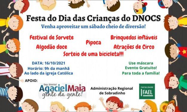 Festa do dia Dia das crianças no DNOCS!!!